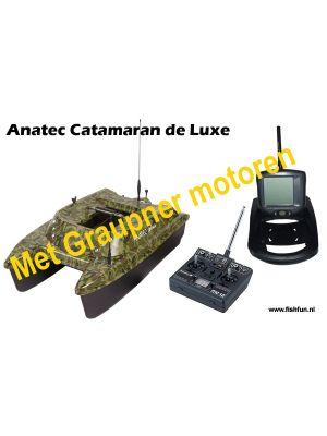 Anatec Catamaran voerboot DIGITAAL de Luxe incl. Fishfinder (uitverkocht)