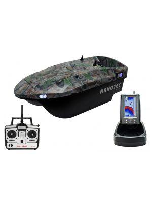 Nanotec Standaard Voerboot Camo incl. Toslon kleuren fishfinder