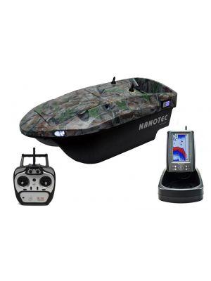 Nanotec Standaard Voerboot Camo incl. Toslon TF500 kleuren fishfinder